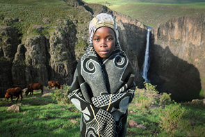Lesotho Cow Herder by David Lazar